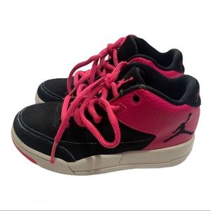 High top black & pink toddler flight Jordan's